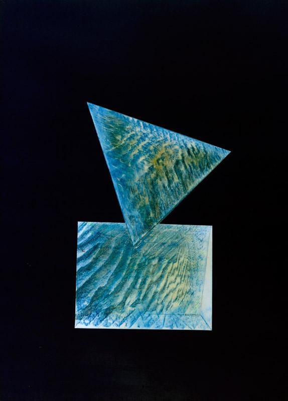 Bozzetto per scultura, s.d. tecnica mista su carta, 70x50 cm