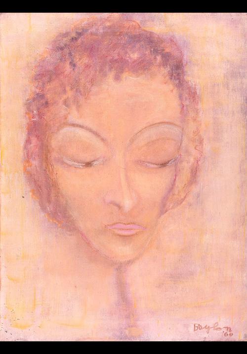 Autoritratto, 1960  olio su tela, 80x60 cm