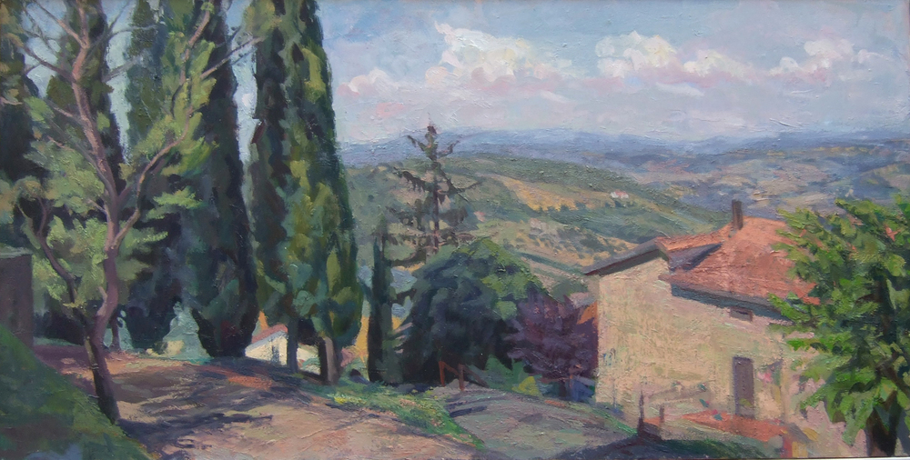 Strada with Cypress Trees