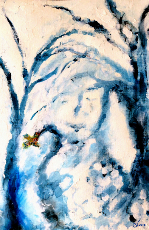 """""""WINTER FROST IN THE WOODS"""" - GEMINI 2015 NEW MOon - BY WISE OWL CHRISTINE"""