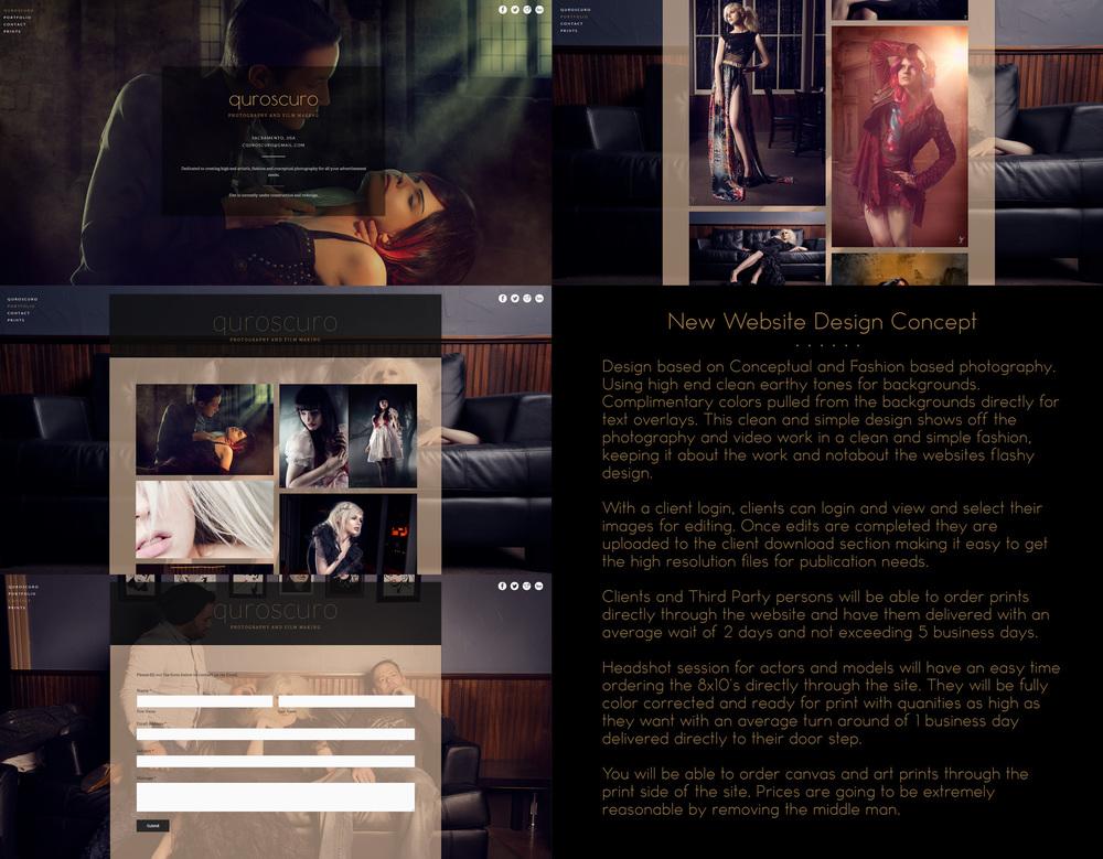 Website concept design posted on www.facebook.com/cquroscuro.