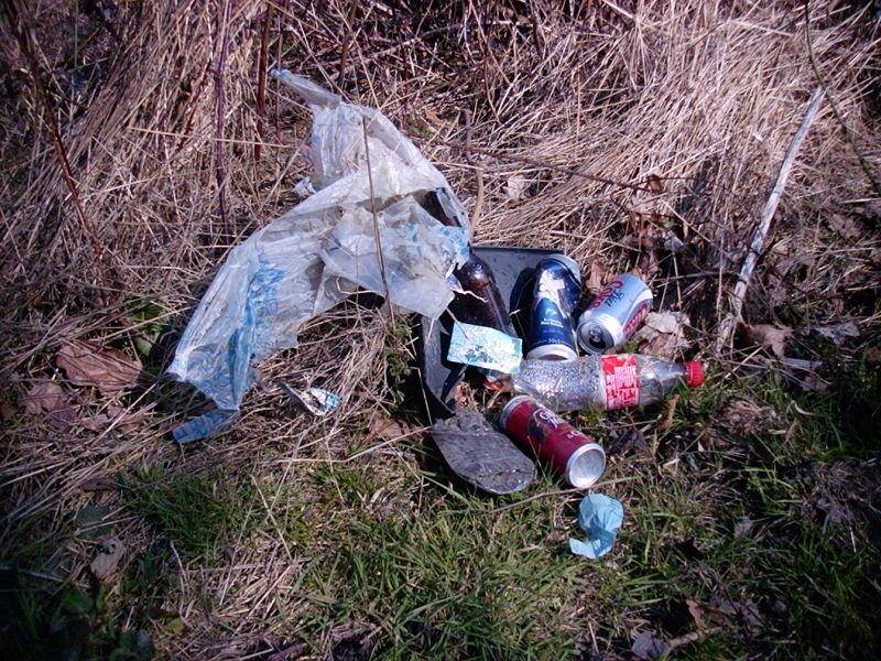 Rubbish recently collected in just a small area by a local resident.