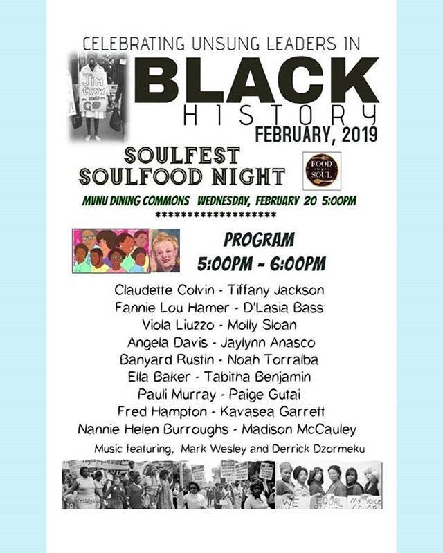 Classes may be cancelled, but Soul Fest is still going on minus the speakers. Join us in the Dining Commons from 5-6PM for some good food.