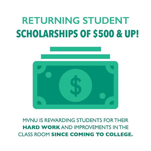 Don't forget to apply for the Returning Student Scholarships! This is a different opportunity from the Endowment scholarships and is a way to be rewarded for your hard work and improvement through the course of your time in college. Apply through the link in our bio!