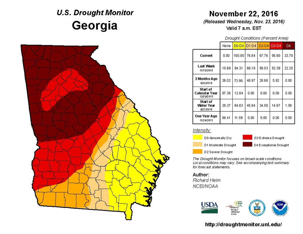 Georgia Drought Nov. 22