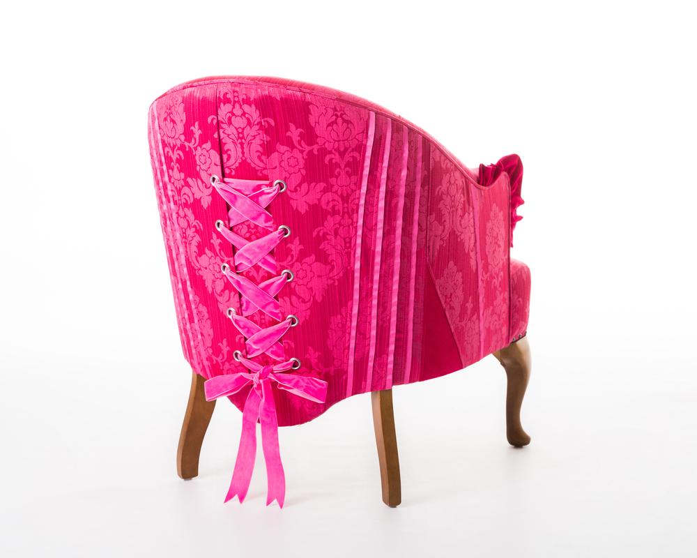 hot pink corset chair