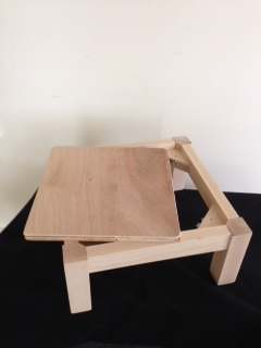 New beech wood footstool frame