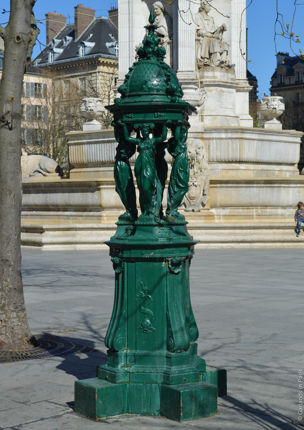 Wallace Fountain Place Saint Sulpice Paris