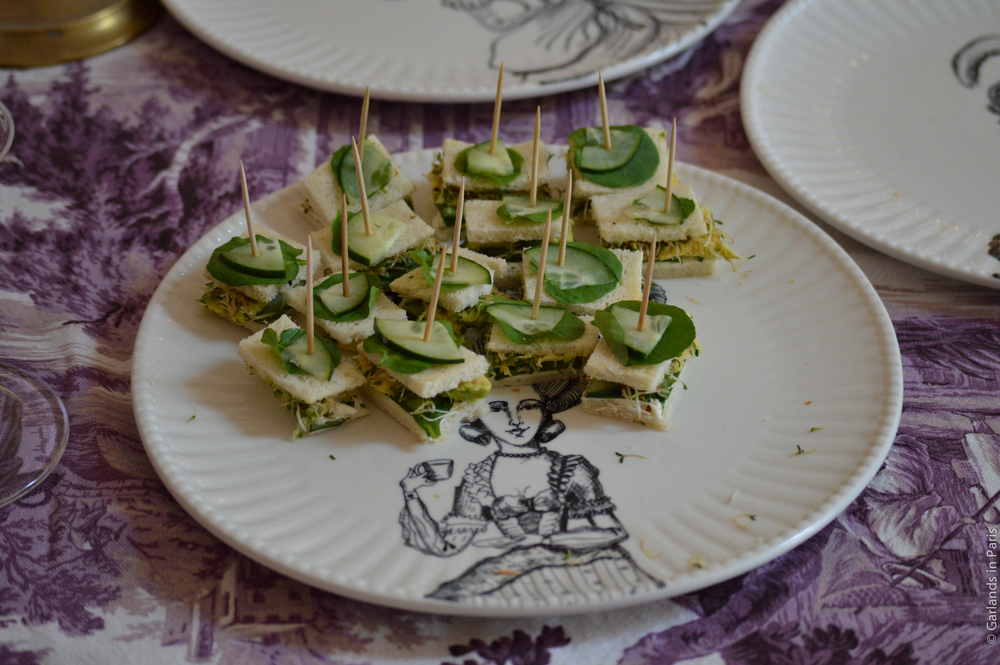 A Rosy Birthday Party cucumber sandwiches