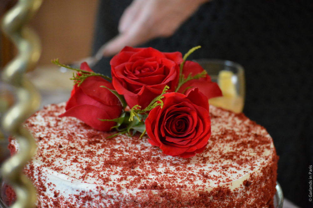 A Rosy Birthday Party cake