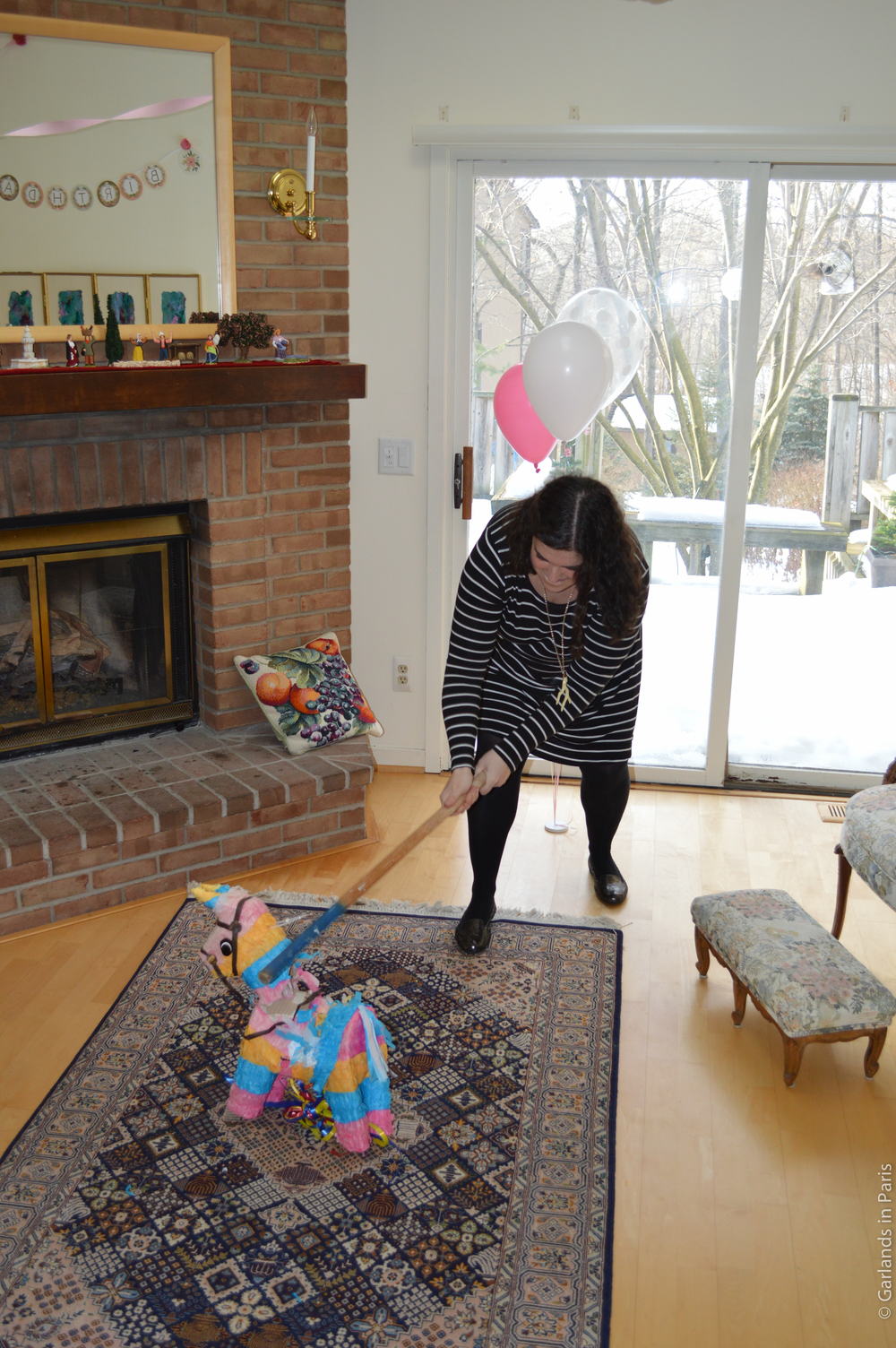A Rosy Birthday Party pinata