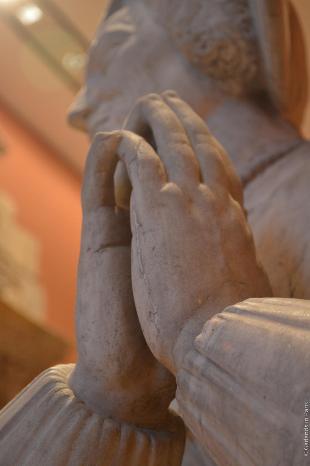 Louvre Museum Statue Hand Praying