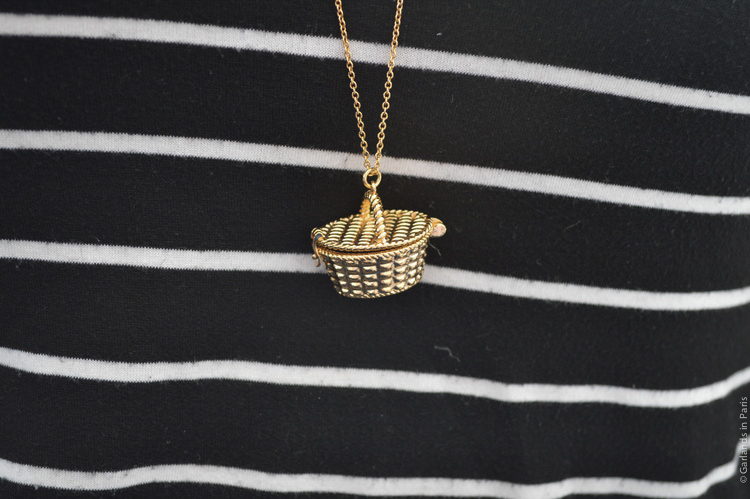 Kate Spade picnic basket necklace
