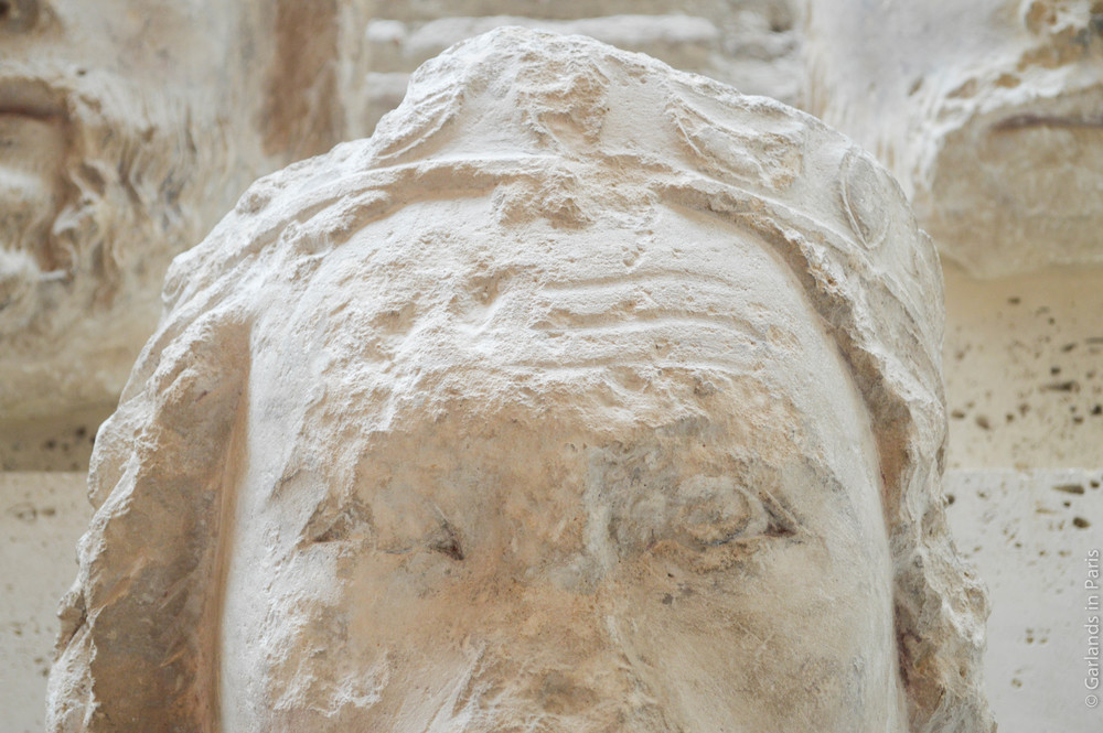 Polychrome, king head, Notre-Dame, Musée de Cluny