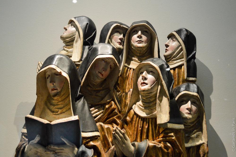Nuns, Exposition Sculptures Souabes, Musée de Cluny, Paris