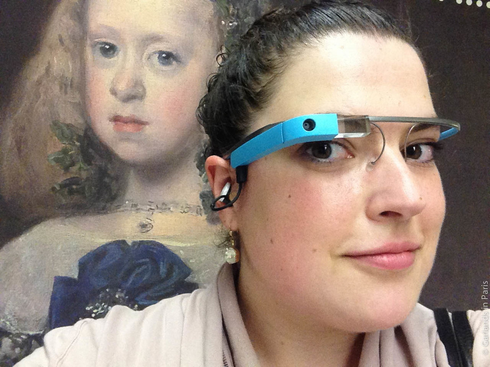Google Glass, Grand Palais, Velazquez, Paris