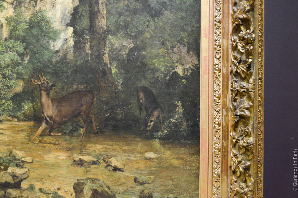Green, deer, painting, Orsay, Paris