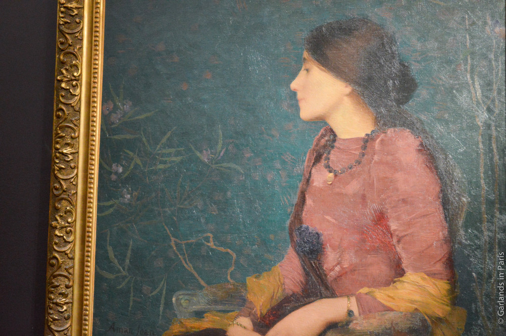 Green, woman, painting, Orsay, Paris