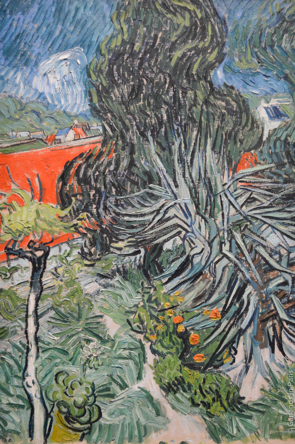 Van Gogh, plants, painting, Orsay, Paris