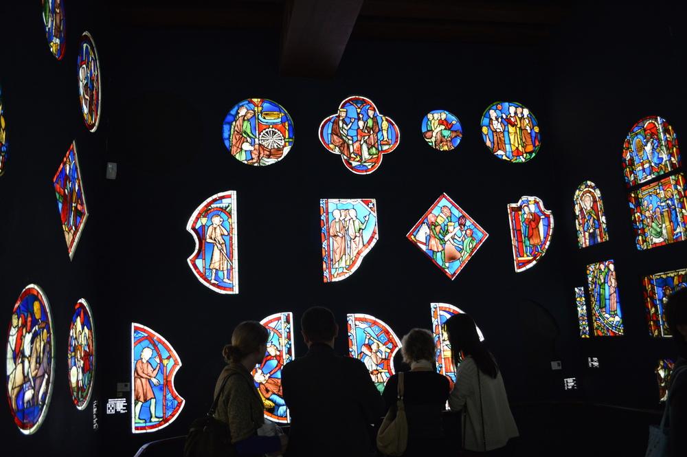 Musée de Cluny, Paris, stained glass