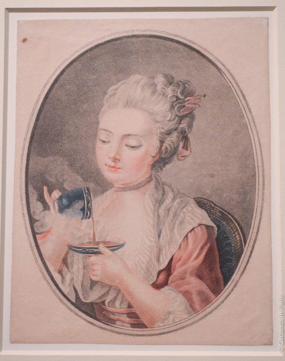 Girl sipping tea