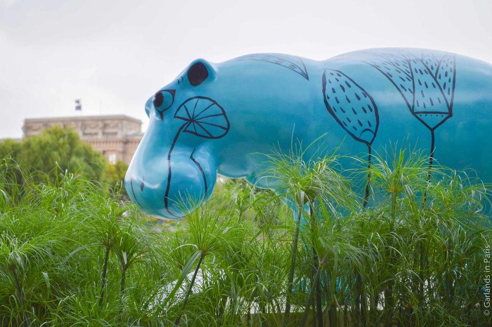 Louvre, Paris Plages, Blue Hippo