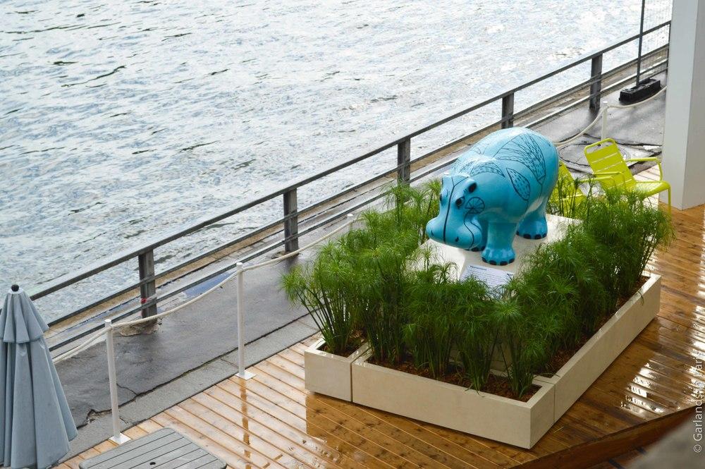Louvre Paris Plages, Blue Hippo