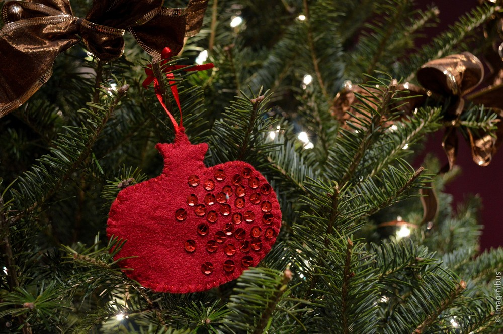 Pomegranate Christmas Ornament