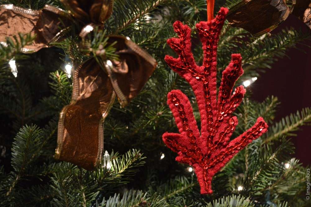 Coral Christmas Ornament