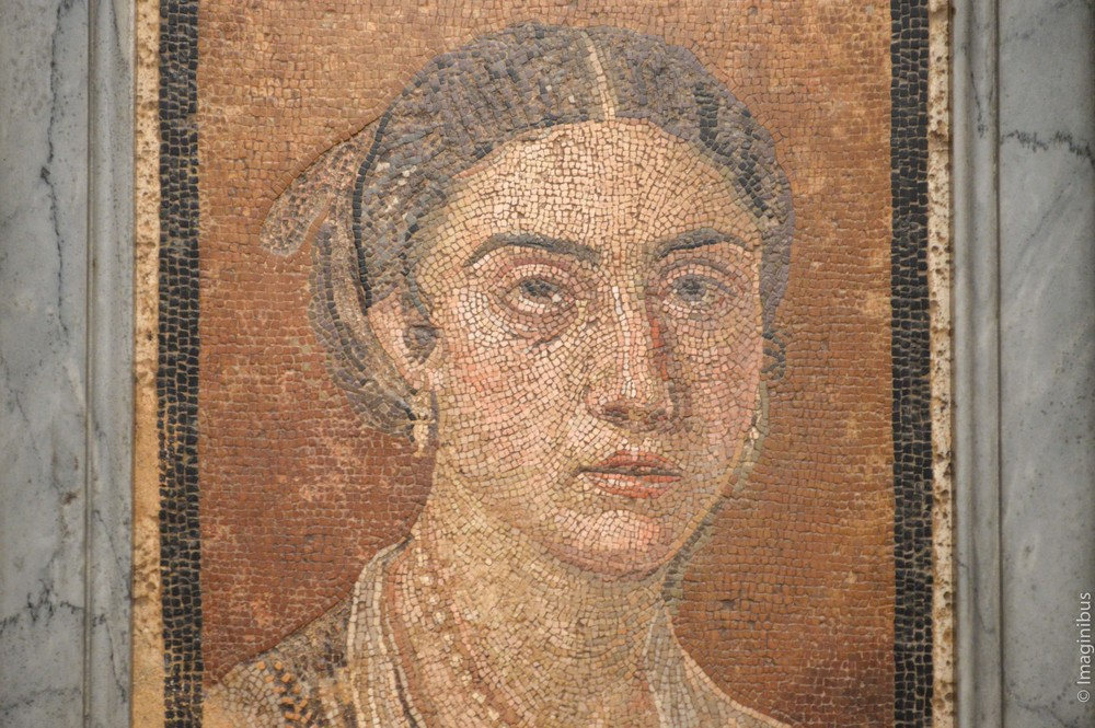 Pompeii, Montreal Museum of Fine Arts, Mosaic Woman Face