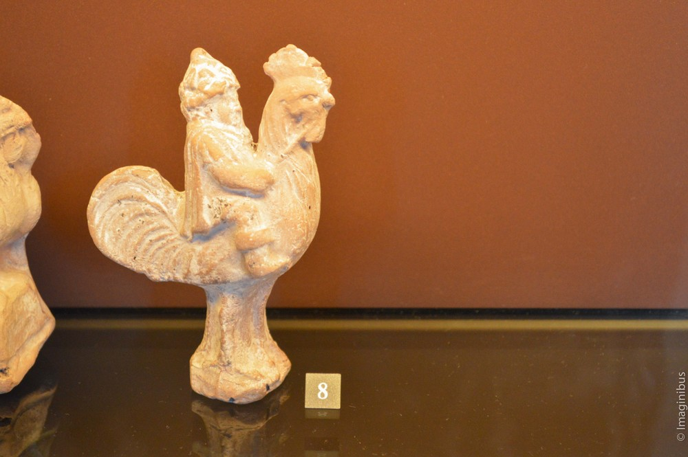 Louvre, Greek Terracotta Statue, Rooster