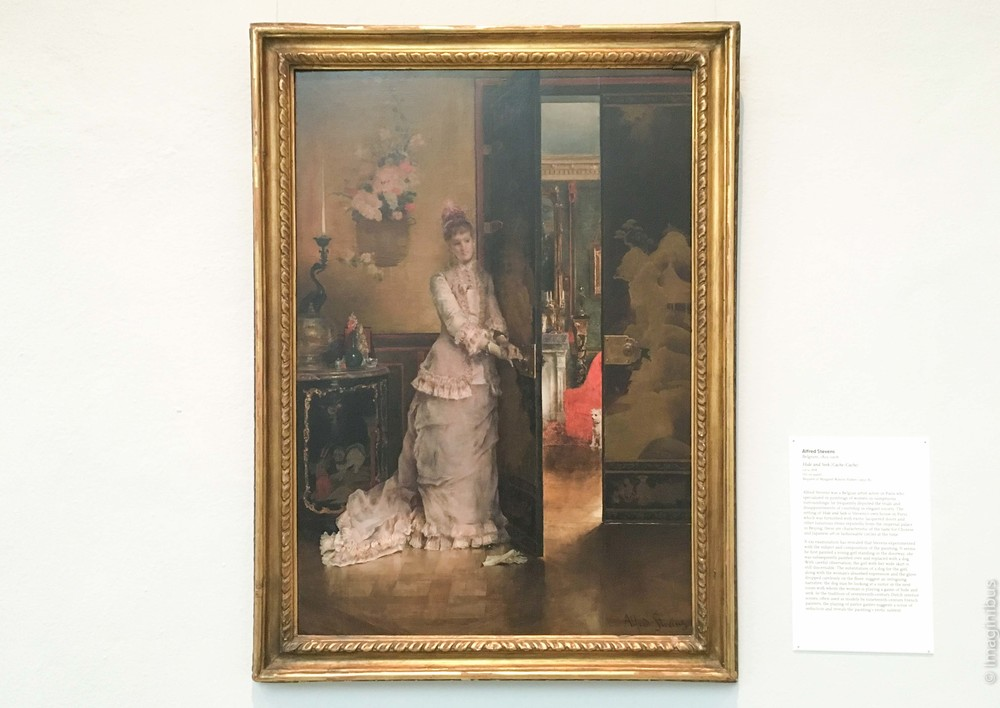 UMMA, Alfred Stevens, Hide and Seek