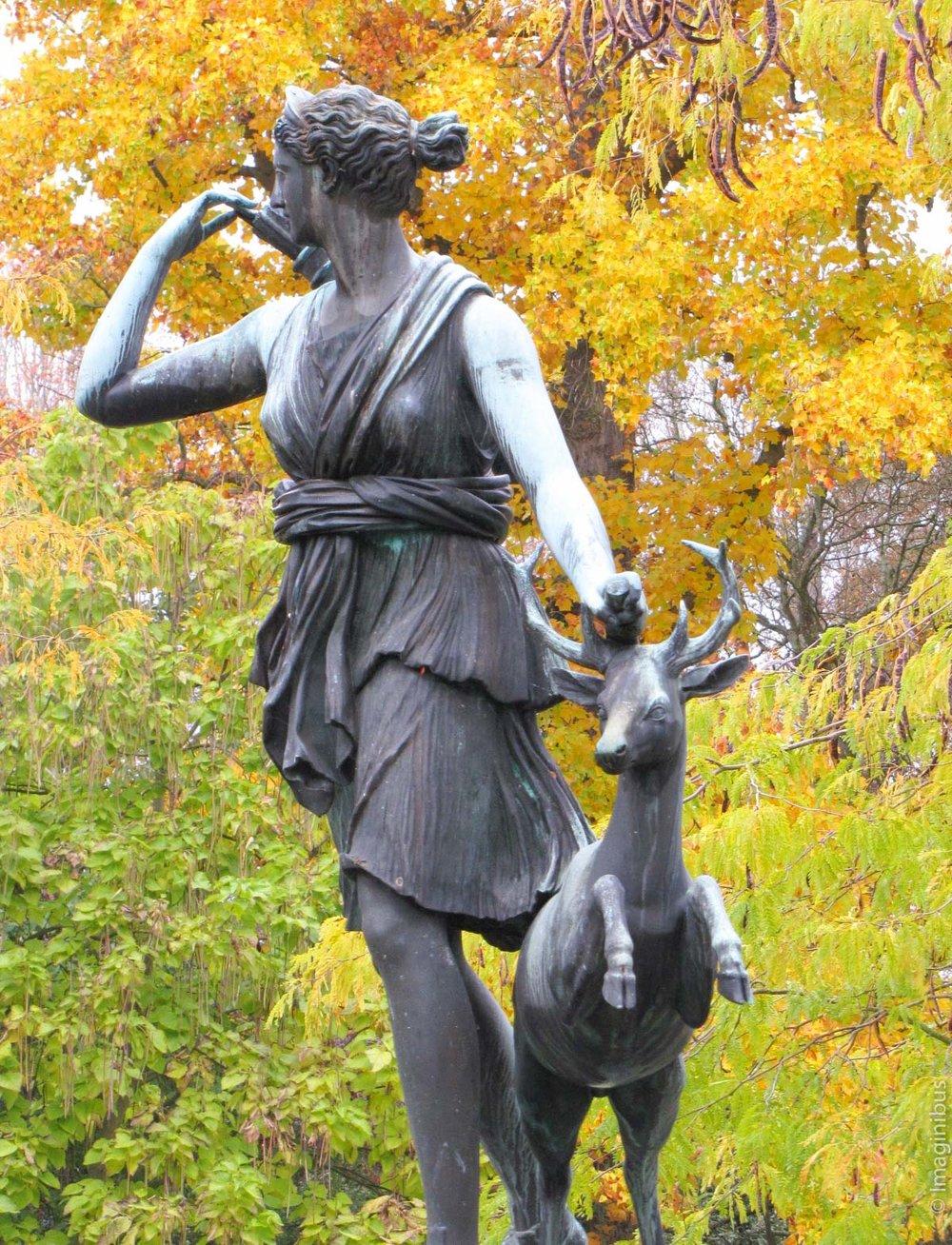 Chateau de Fontainebleau Autumn Diana