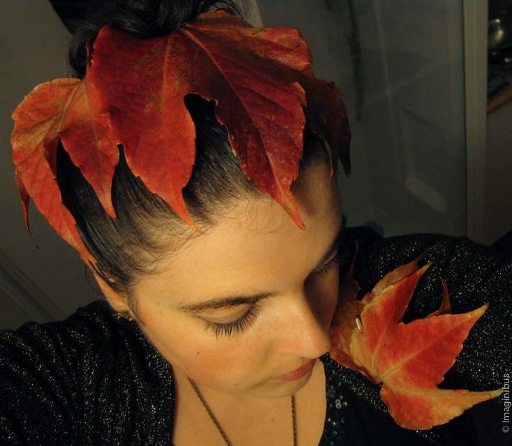 Halloween Autumn Leaf Hair