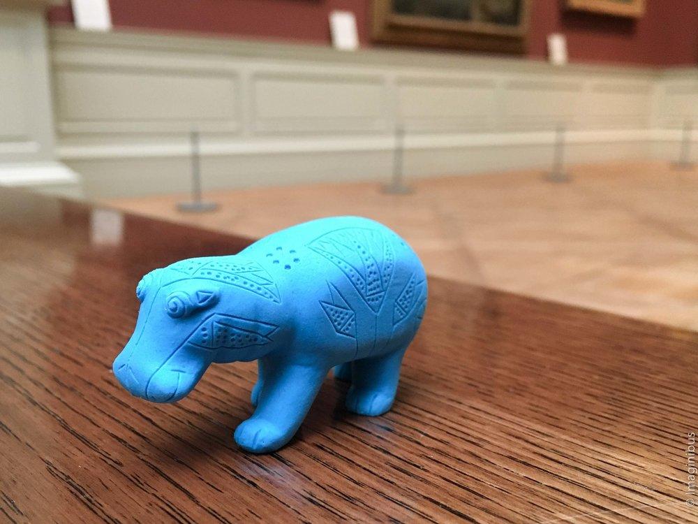 Met Blue Hippo Eraser