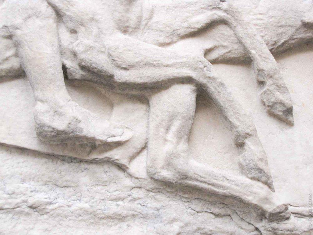 British Museum Statue Horses Elgin Marbles
