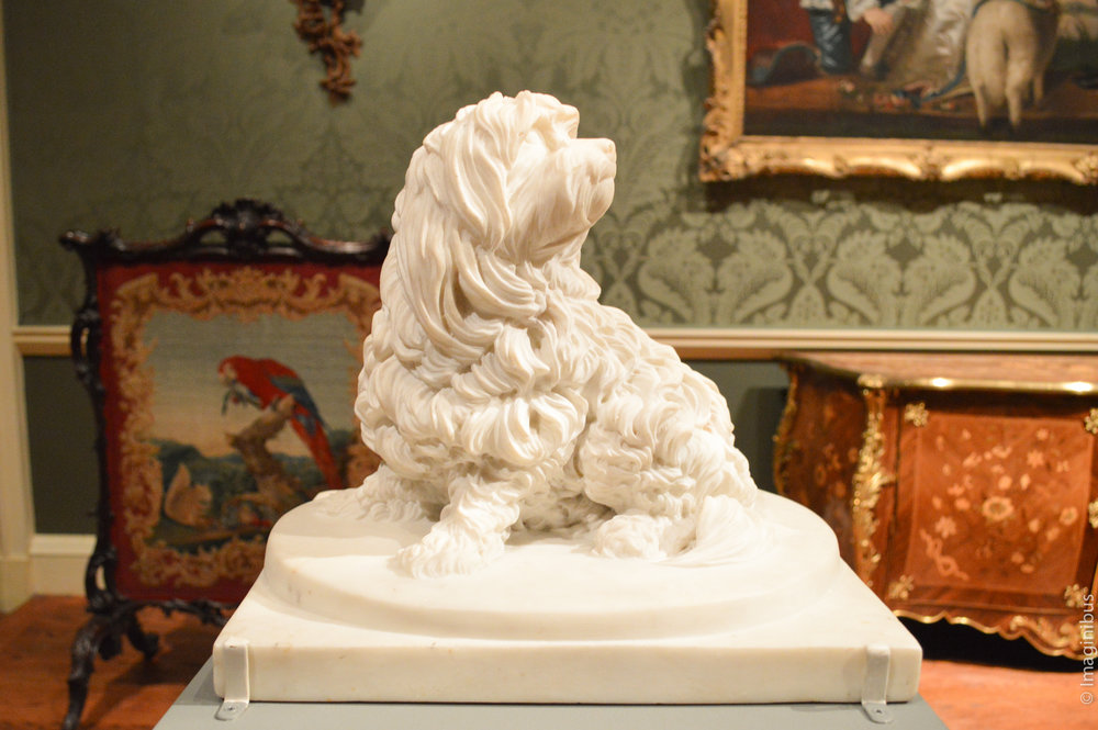 Shock Dog , Anne Seymour Damer, English, probably 1782, Carrara marble