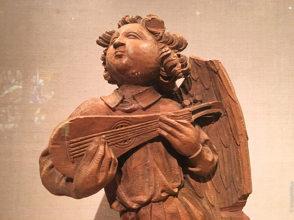 Musical Angel , French, carved about 1450-1500, wood