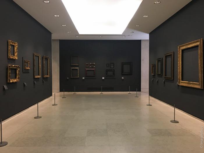 Regards sur les cadres empty frames louvre museum