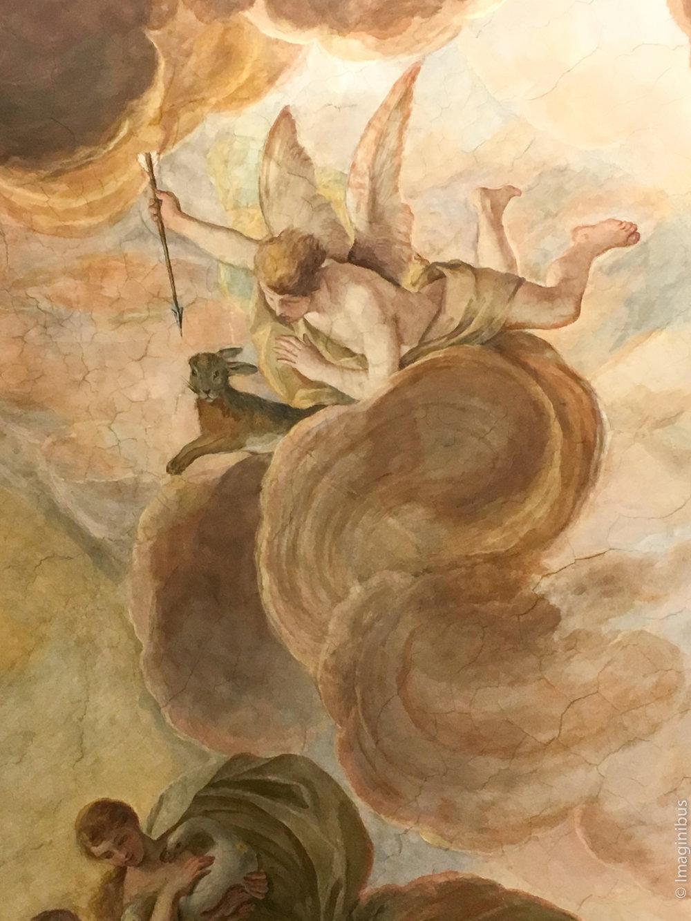 Palazzo Barberini Rabbit Cloud Fresco