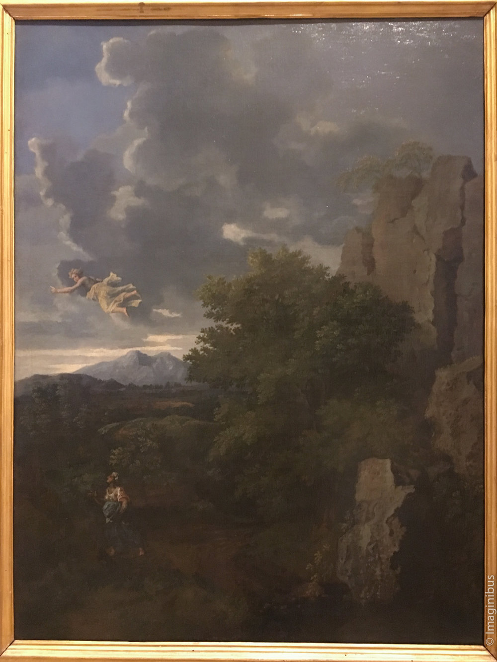 Palazzo Barberini Poussin Landscape with Hagar and the Angel