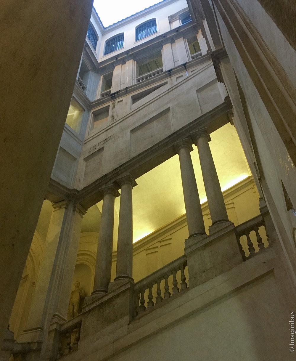 Palazzo Barberini Bernini Square Staircase Rainy