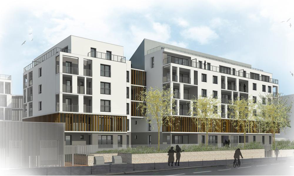 99 logements collectifs, crèche, écopoint Auvours | Nantes