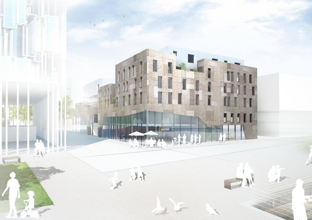 39 logements et commerces Péristyle | Lorient