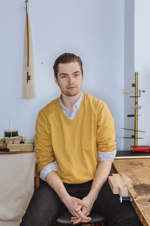 Alek Jaunzemis, bow repairs