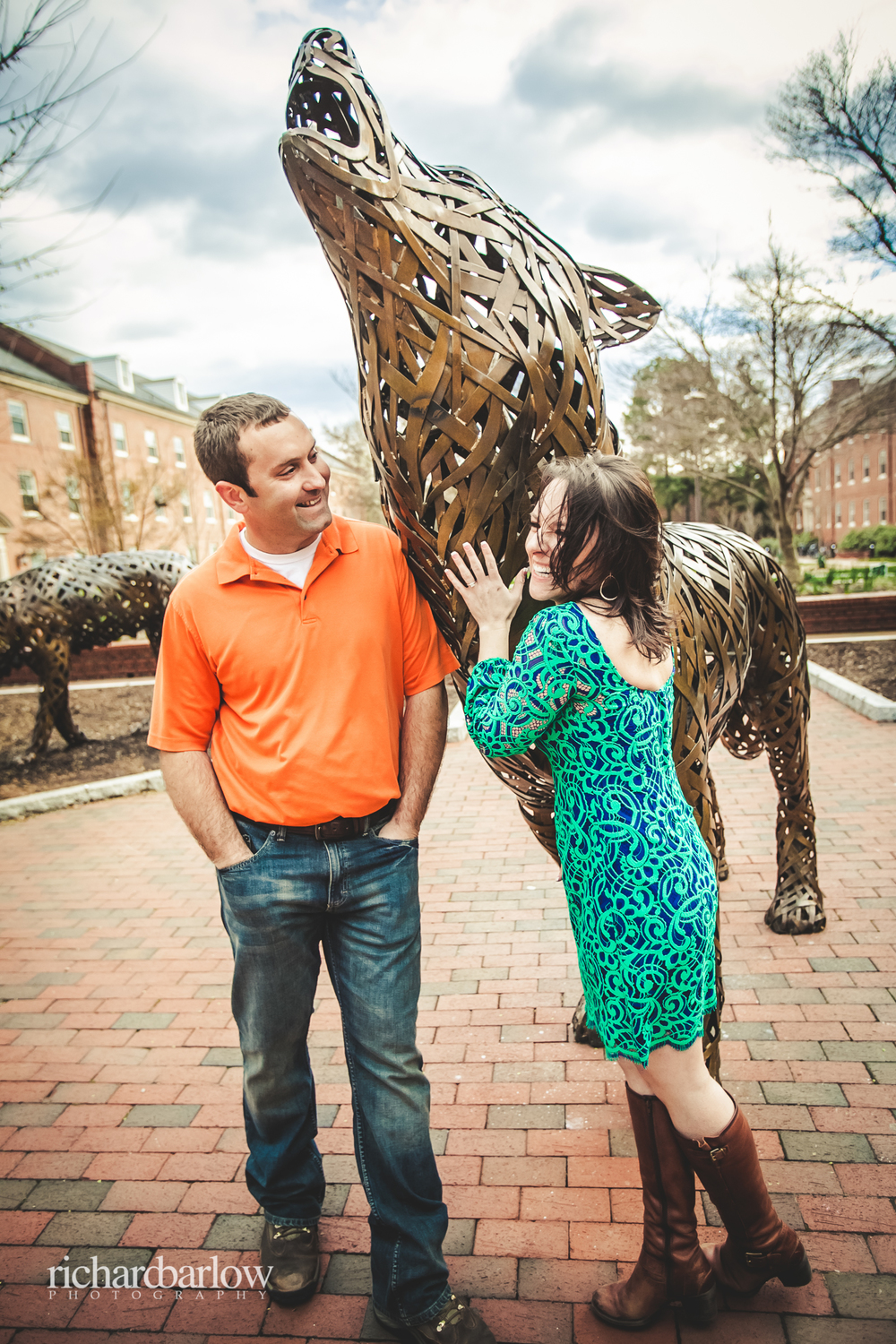 richard barlow photography - Jason and Karen Engagement Session NC State-13