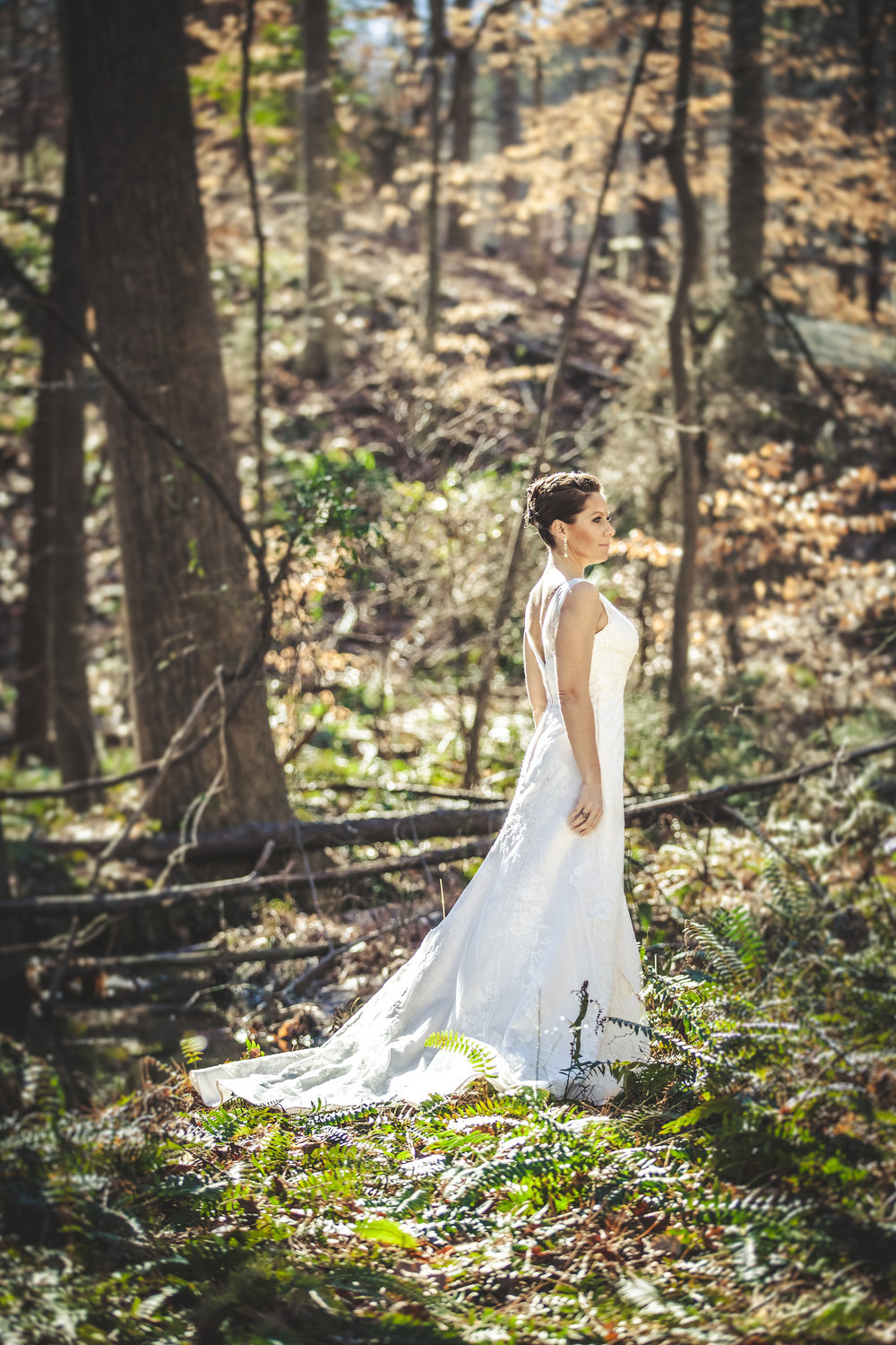 Cary NC Bridal wooded