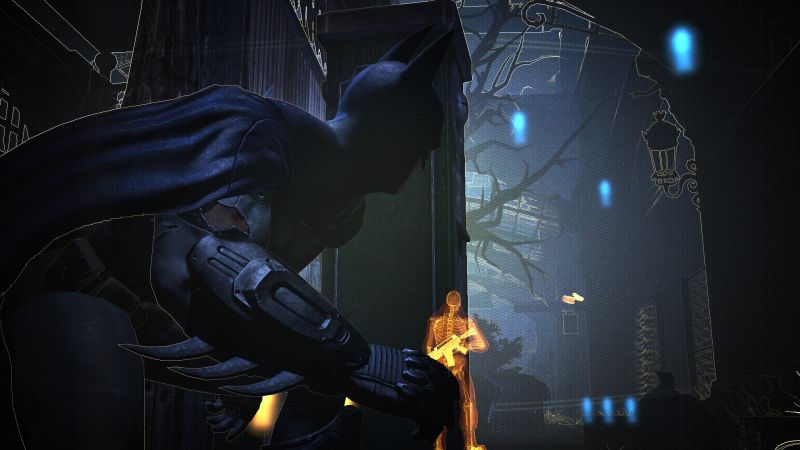 Batman: Arkham City stealth mode screenshot from Warner Bros Entertainment