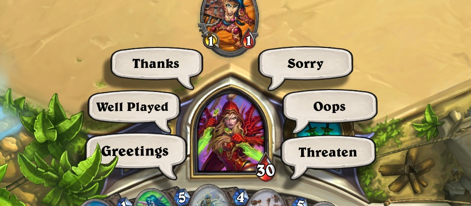 Hearthstone  screenshot from Gabe Wood