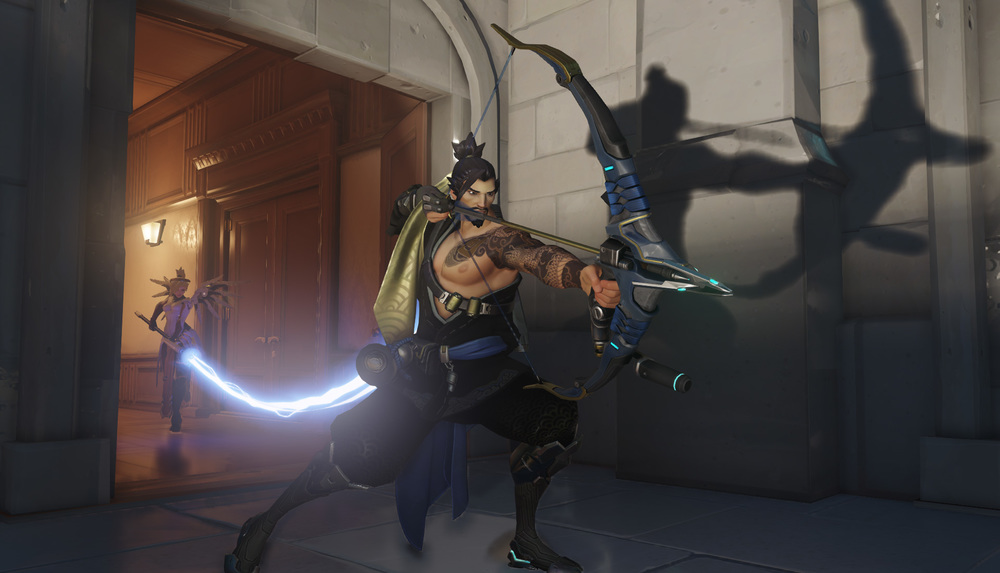 Screenshot of Hanzo from  Blizzard's  Overwatch   .